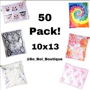 🆕50 Pack Mixed Poly Mailers 10X13